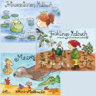 Kinderbücher-Malbücher-Karten