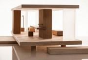 Puppenhaus, -wagen aus Holz