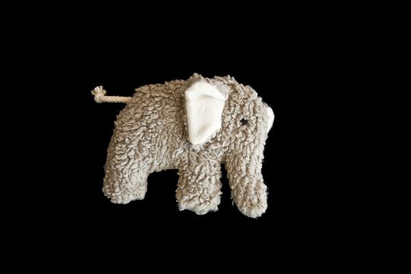 plü natur Stofftier - Greifling Elefant - Bio Baumwolle
