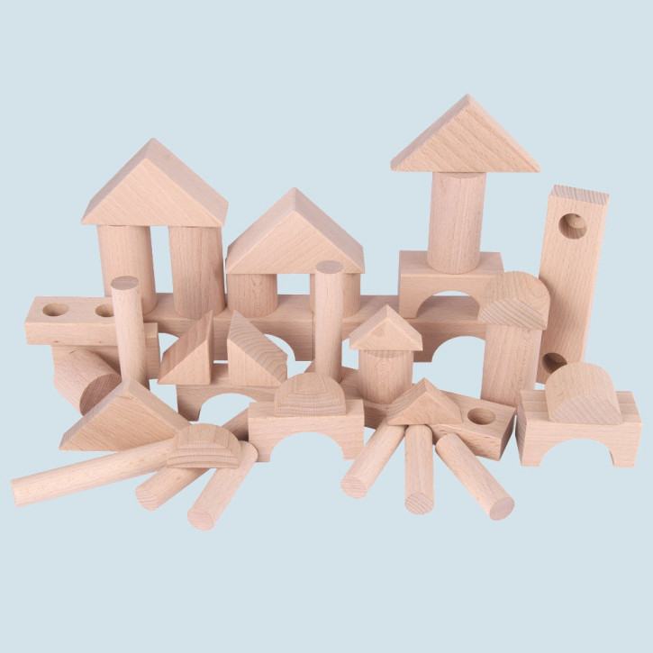 Beck - wooden building blocks - natural color, extension