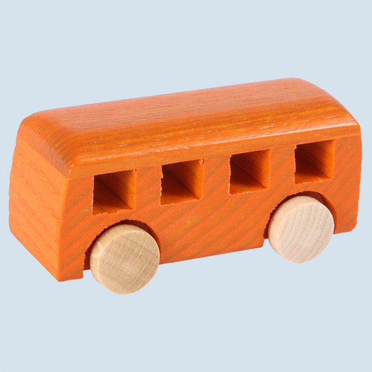 Beck - Bus, Holzauto - orange, Made in Germany