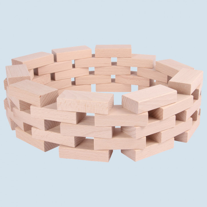 Beck - wooden building blocks - natural color