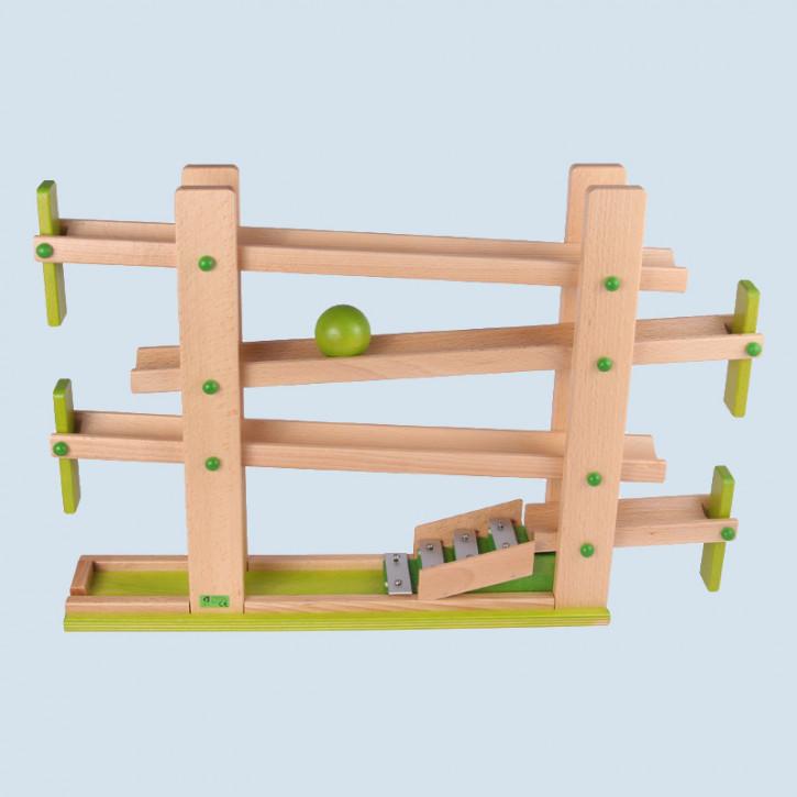 Beck - Klappen Kugelbahn aus Holz mit Glockenspiel