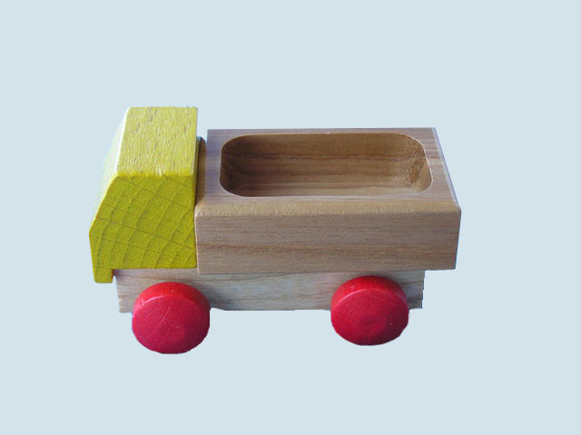 Beck - Lieferwagen / Holzauto - gelb, Made in Germany