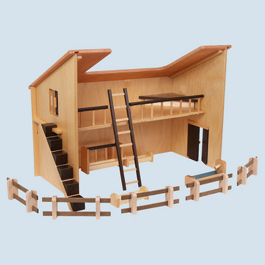 Beck - stall, farm - wooden toys