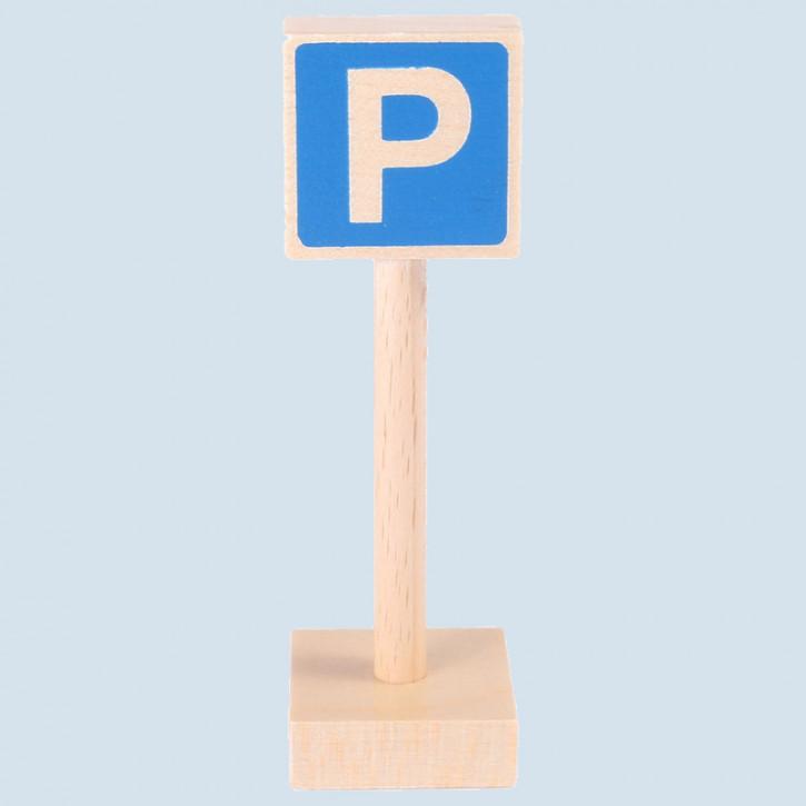 Beck - Verkehrszeichen Parkplatz - Holz, Made in Germany
