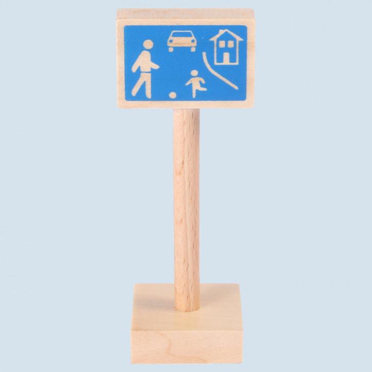 Beck - Verkehrszeichen verkehrsberuhigter Bereich - Holz, Made in Germany