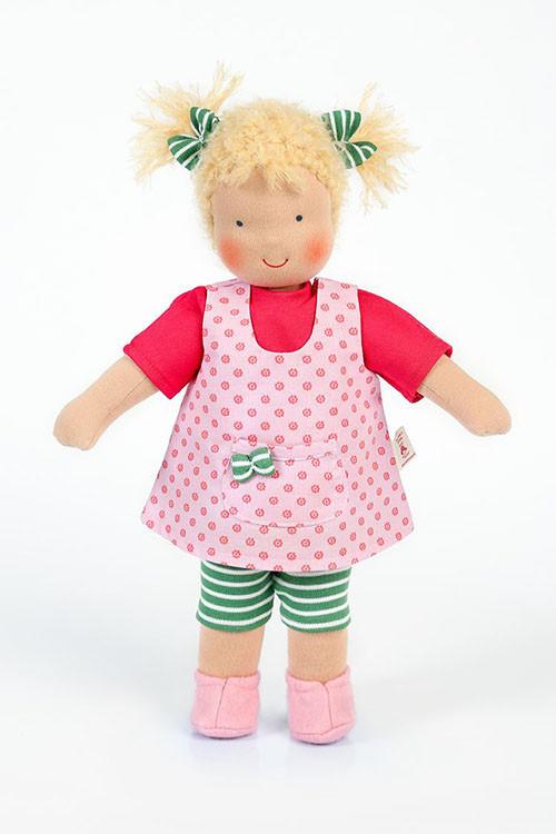 Heidi Hilscher Puppe - Bio Schlenkerpuppe Johanna - dezente Bemalung