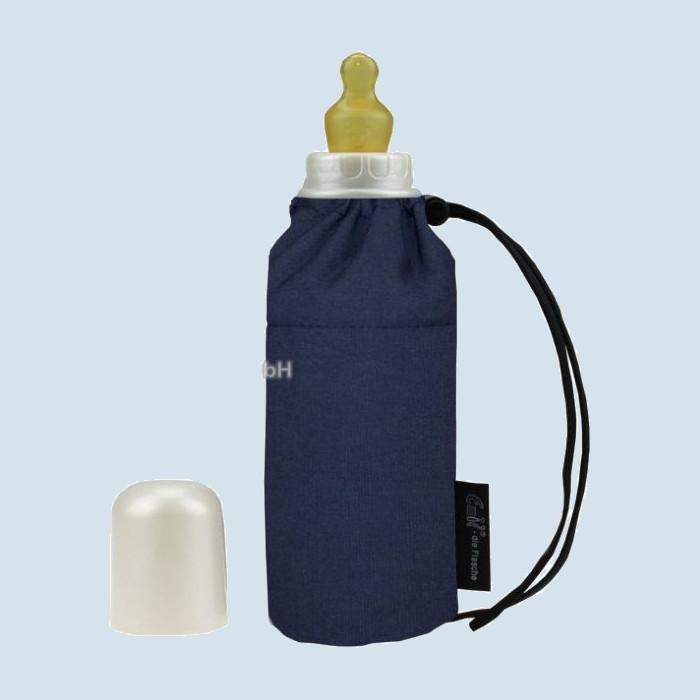 Emil die Flasche - Babyflasche blau - 250 ml Textil Oberstoff Bio