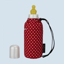 Emil die Flasche - Babyflasche rot - 250 ml Textil Oberstoff Bio