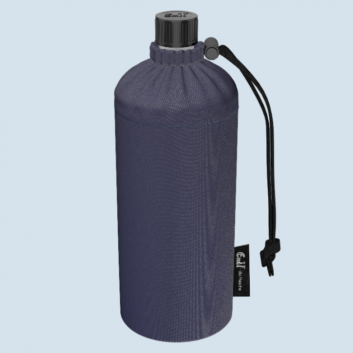 Emil die Flasche - Trinkflasche Jeans blau -  0,6 L Oberstoff Bio