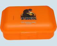 Emil die Flasche - Brotbox Dinosaurier, orange - gross