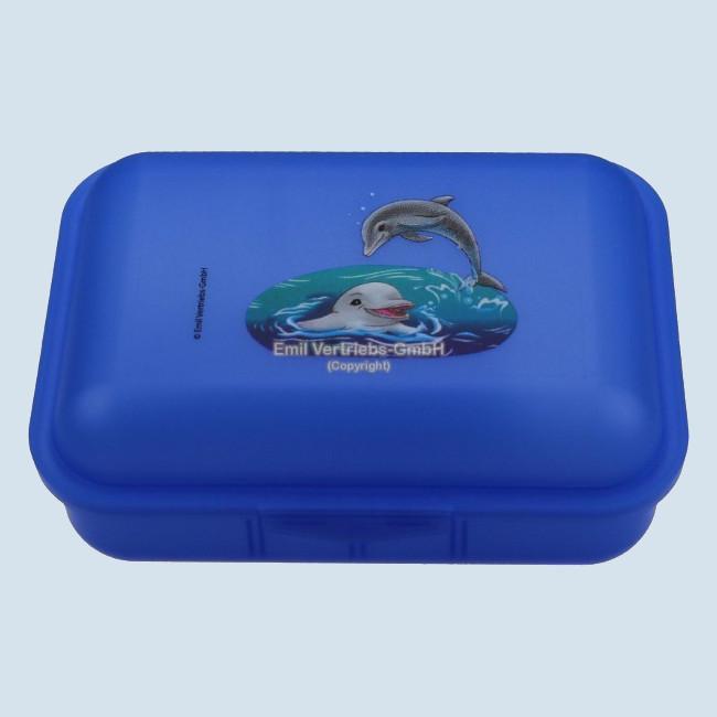 Emil die Flasche - Brotbox Delfin - blau, gross, lebensmittelecht, Neu