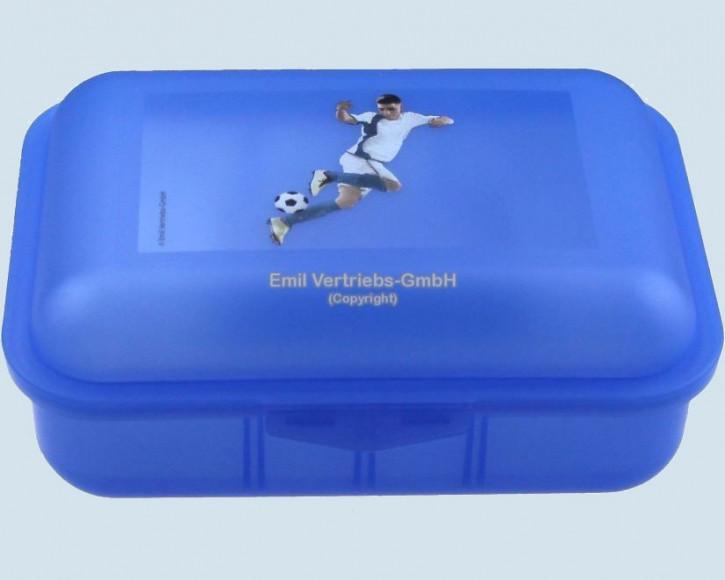 Emil die Flasche - Brotbox Fussball - blau, neu