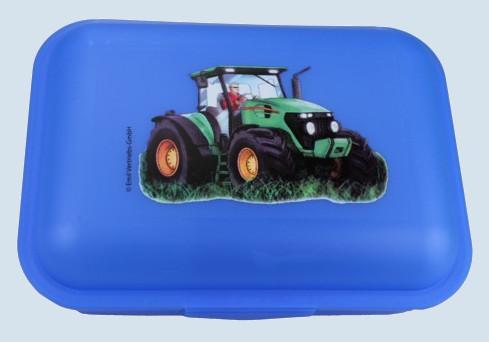 Emil die Flasche - Brotbox Traktor - blau - gross