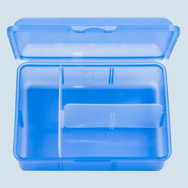 Emil die Flasche - Kinder Brotbox, Brotdose XXL - blau