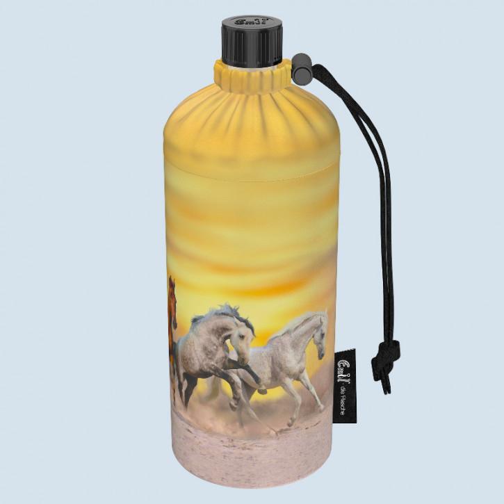 Emil die Flasche - Trinkflasche Wildpferde gelb - 0,6 L