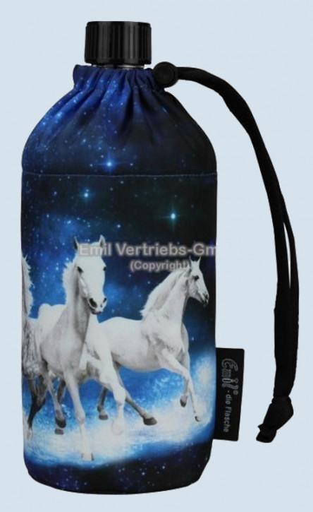 Emil die Flasche - Trinkflasche Pferd, blau weiß - 0,3 L