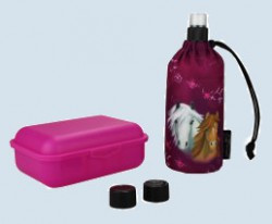 Emil die Flasche - Starter Set Pferd, lila - Geschenkset 0,3 L