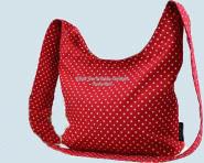 Emil die Flasche - Tasche gepunktet - rot - Baumwolle Bio Qualität