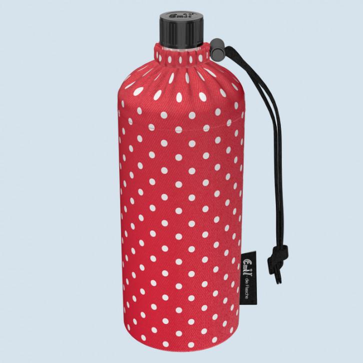 Emil die Flasche - Trinkflasche rot mit Punkten - 0,6 L Oberstoff Bio