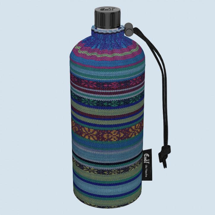 Emil die Flasche - Trinkflasche gestreift Aztek - 0,6 L Oberstoff Bio