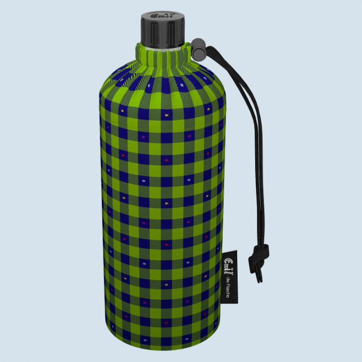 Emil die Flasche - Trinkflasche Karo -  0,6 L Textil Oberstoff Bio