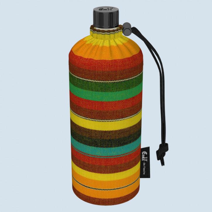 Emil die Flasche - Trinkflasche gestreift Mexiko - 0,6 L Oberstoff Bio