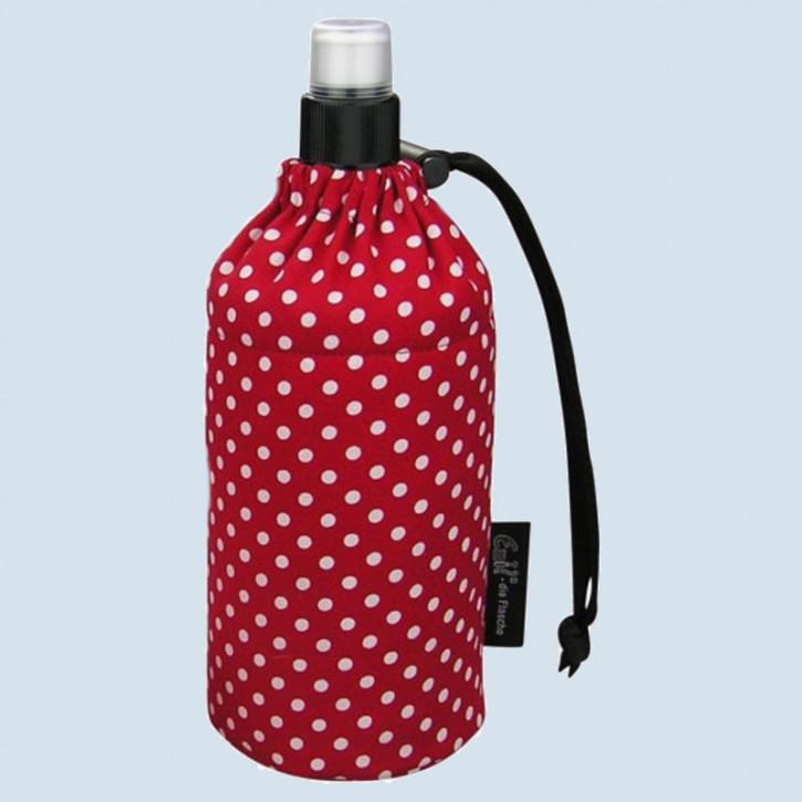 Emil die Flasche - Trinkflasche rot mit Punkten - 0,3 L Oberstoff Bio