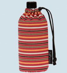 Emil die Flasche - Trinkflasche Streifen -  0,4 L Textil Oberstoff Bio