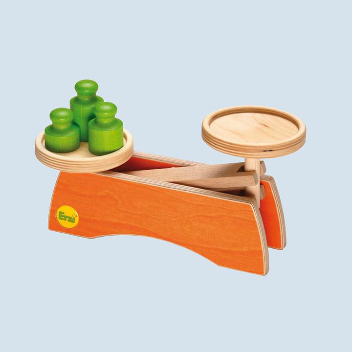 Erzi - Waage, Holz - 3 Gewichte