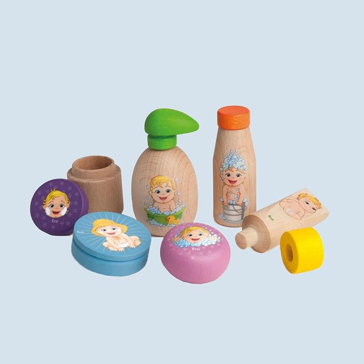 Erzi - Puppenpflege - Holz, für den Kinderkaufladen