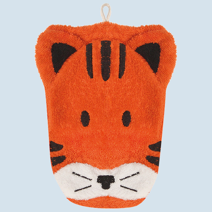 Fuernis - organic wash glove - tiger
