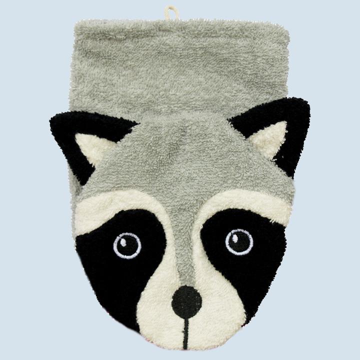 Fuernis - organic wash glove - racoon