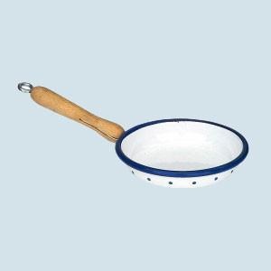 Glückskäfer - Pfanne, Emaille  - weiß, Zubehör Spielküche
