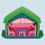 Glückskäfer - Möbelhaus - grün, aus Holz - 17 Teile, Formenwelt