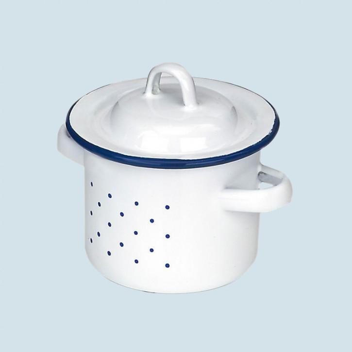 Glückskäfer - Henkeltopf, Emaille, weiß, Zubehör Spielküche