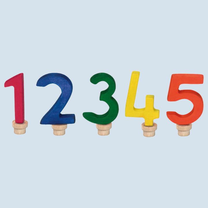Glückskäfer - Geburtstagsziffern sortiert 1 - 5