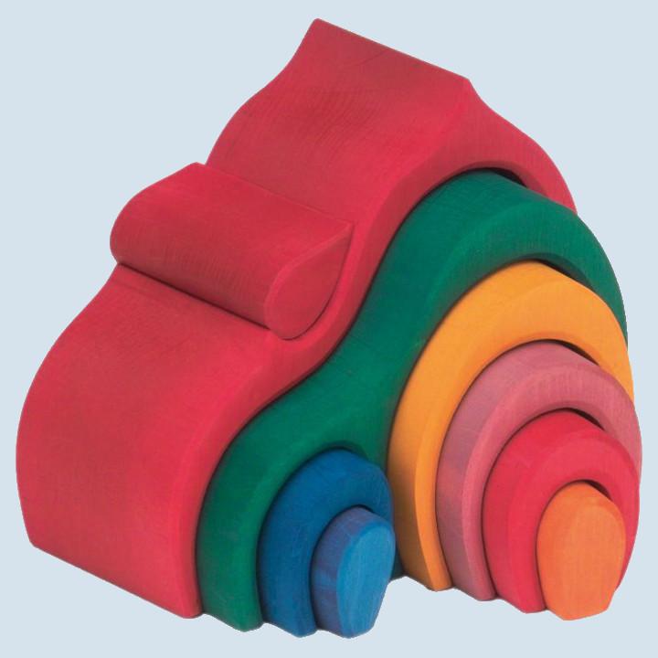 Glückskäfer - Giebel-Haus - rot