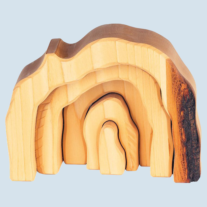 Glückskäfer - Höhlen Set, natur, Holz