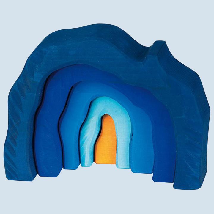 Glückskäfer - Höhlen Set, blau, Holz
