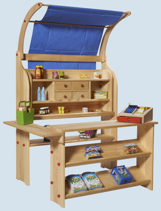 gl cksk fer kaufladen f r kinder aus holz mit dach maman et bebe. Black Bedroom Furniture Sets. Home Design Ideas