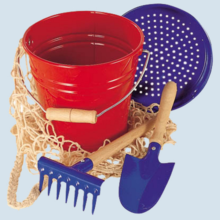 Glückskäfer - Sandeimer Set, rot blau
