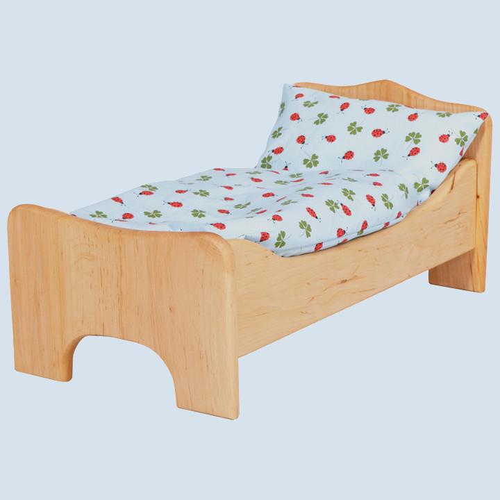 Glückskäfer - Puppenbett mit Bettwäsche