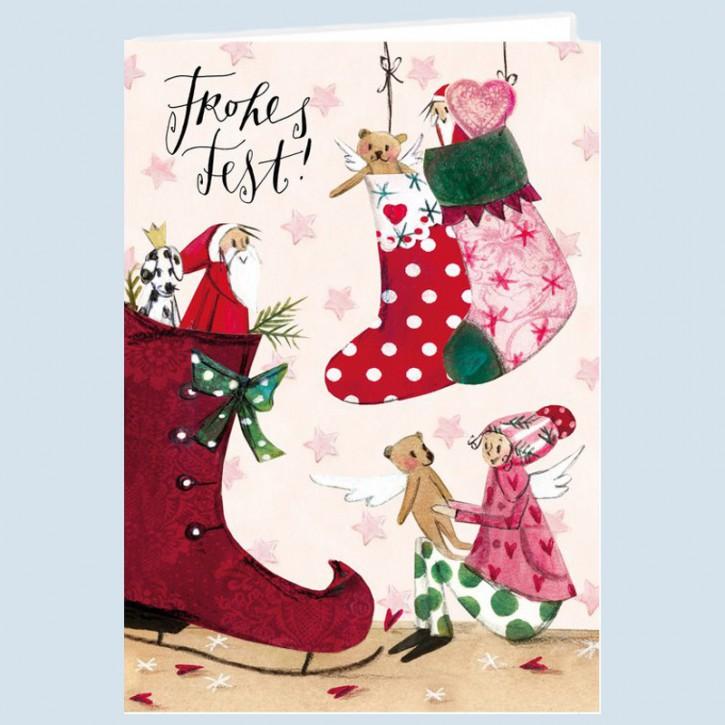 Grätz Verlag - Postcard - Christmas Card - Elves workshop