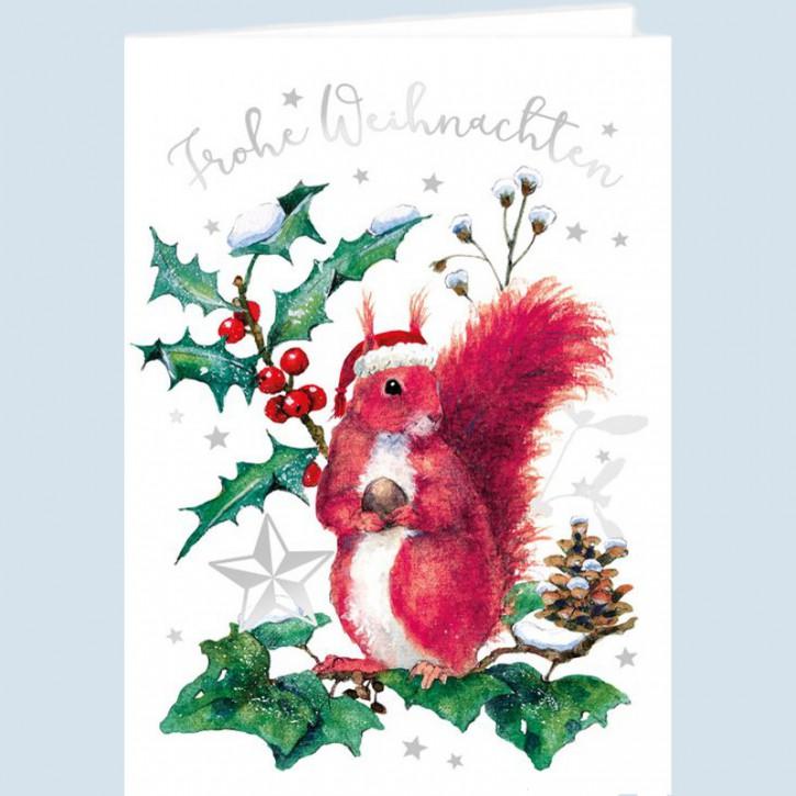 Grätz Verlag - Weihnachtskarte Klappkarte Eichhörnchen