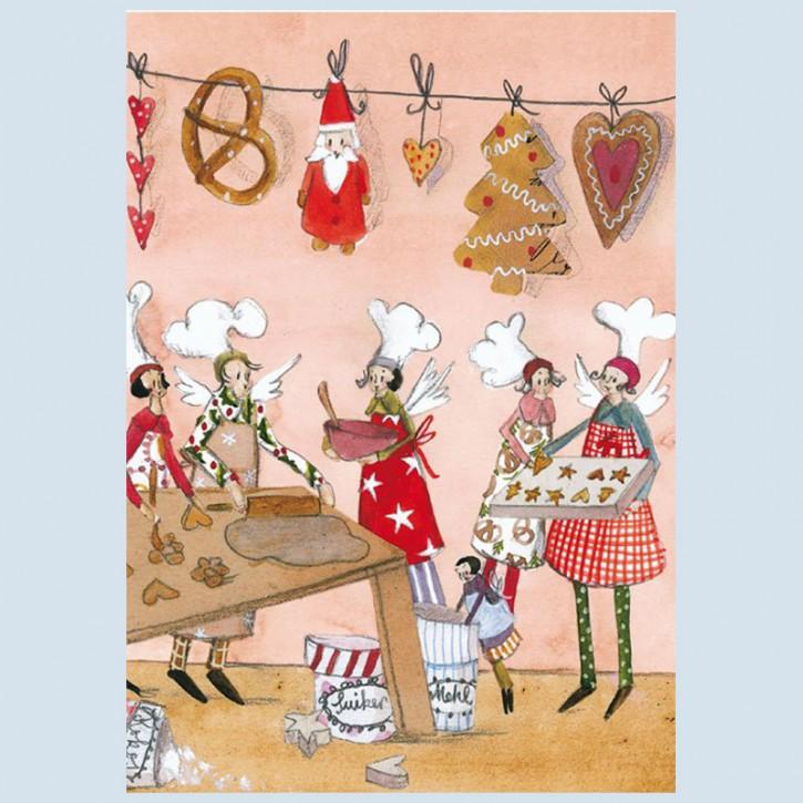 Grätz Verlag - Weihnachtspostkarte - Weihnachtsbäckerei