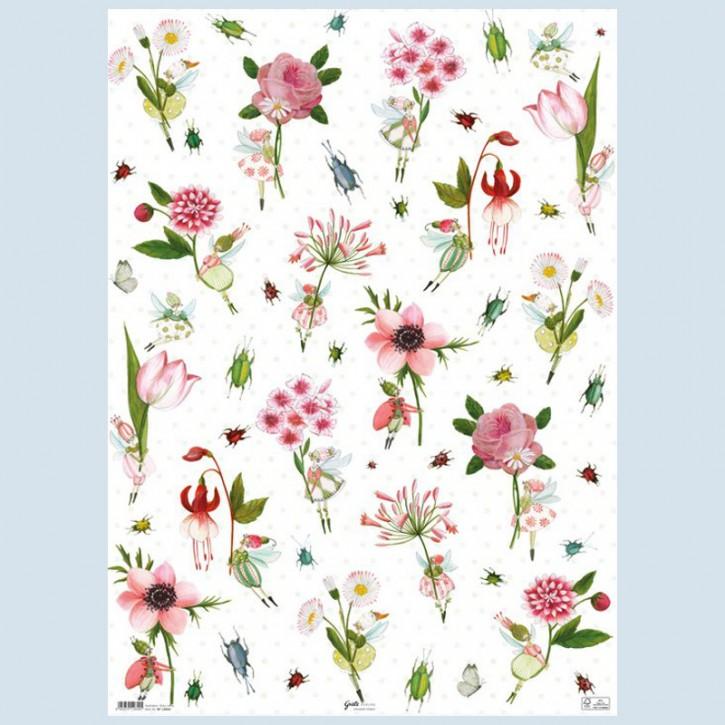Grätz Verlag - Geschenkpapier - Blumenelfen