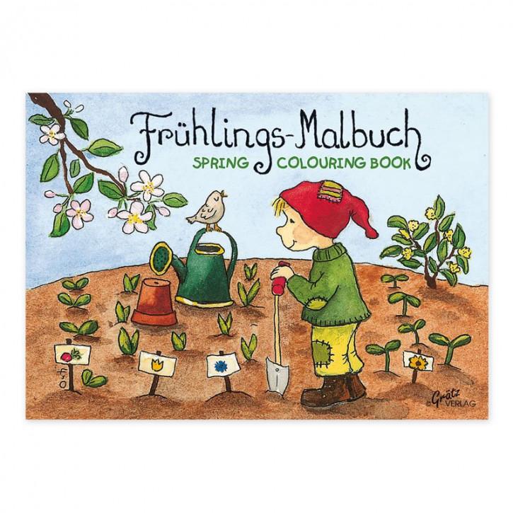Grätz Verlag - Malbuch - Mein Gartenjahr - Frühling - DINA7