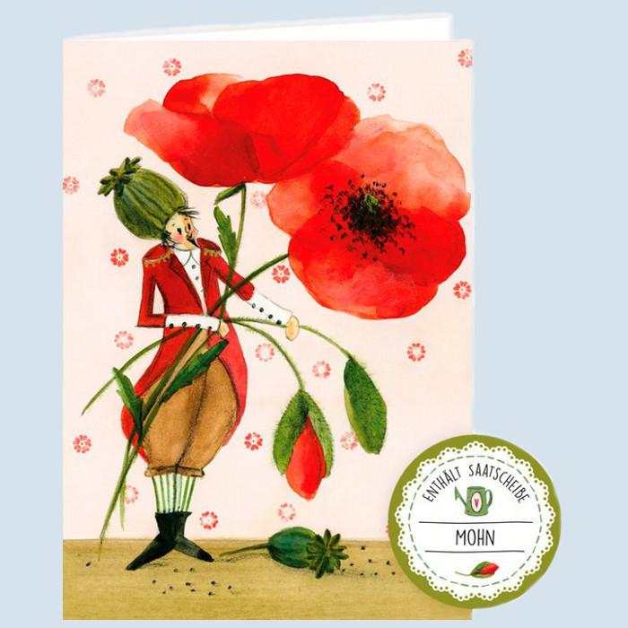 Grätz Verlag - Samenkarte, Glückwunschkarte - Klatschmohn